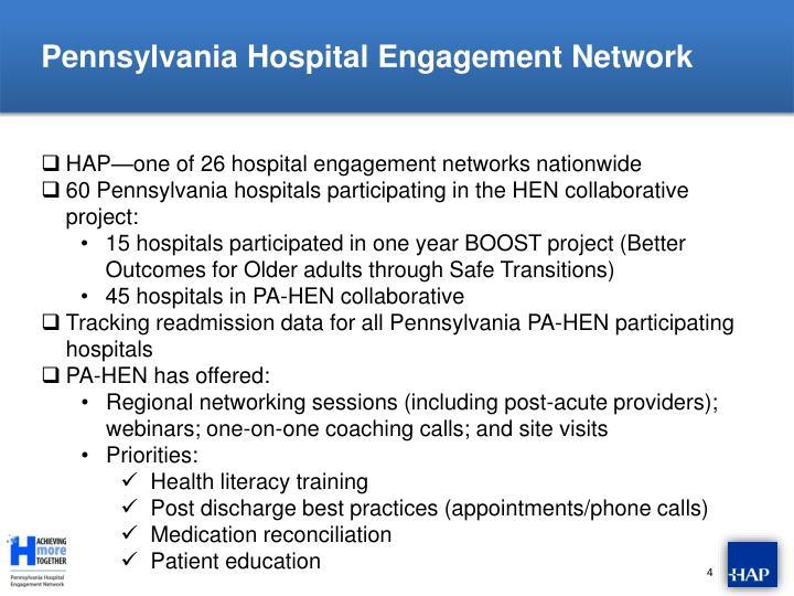 Pennsylvania Hospital Engagement Network