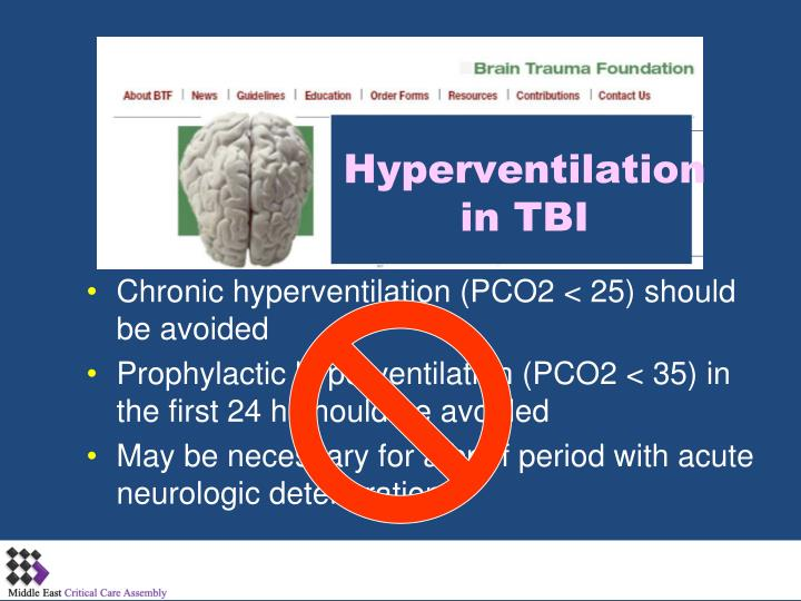 Hyperventilation in TBI