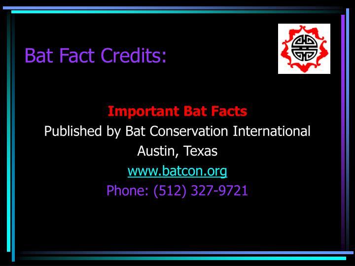 Bat Fact Credits: