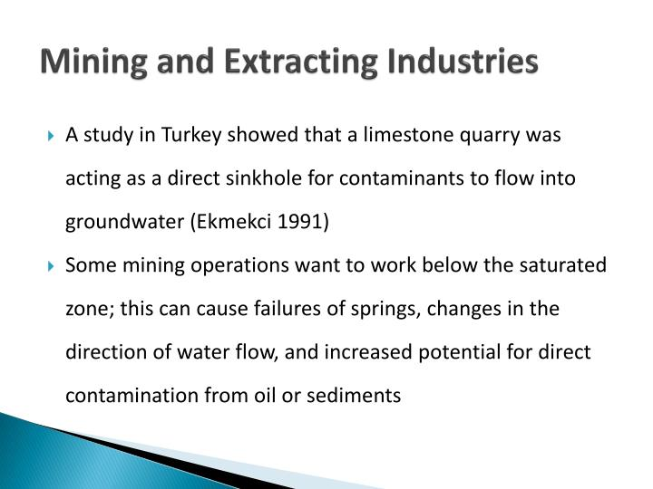 Mining and Extracting Industries