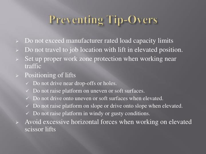 Preventing Tip-Overs