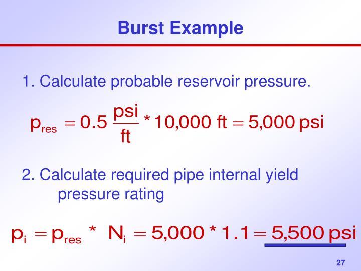 Burst Example