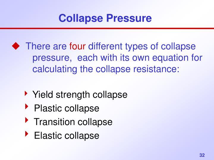 Collapse Pressure