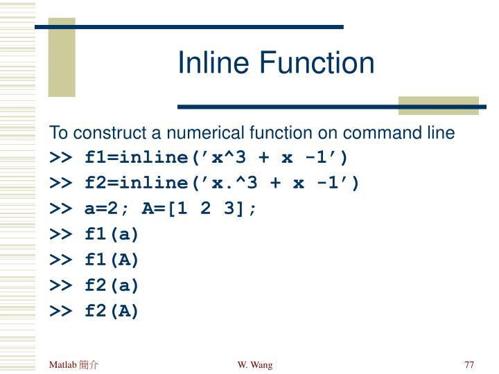 Inline Function