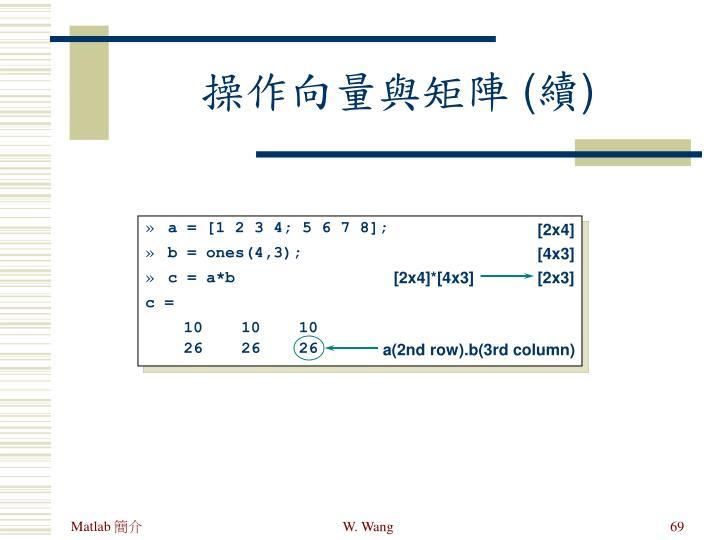 a = [1 2 3 4; 5 6 7 8];