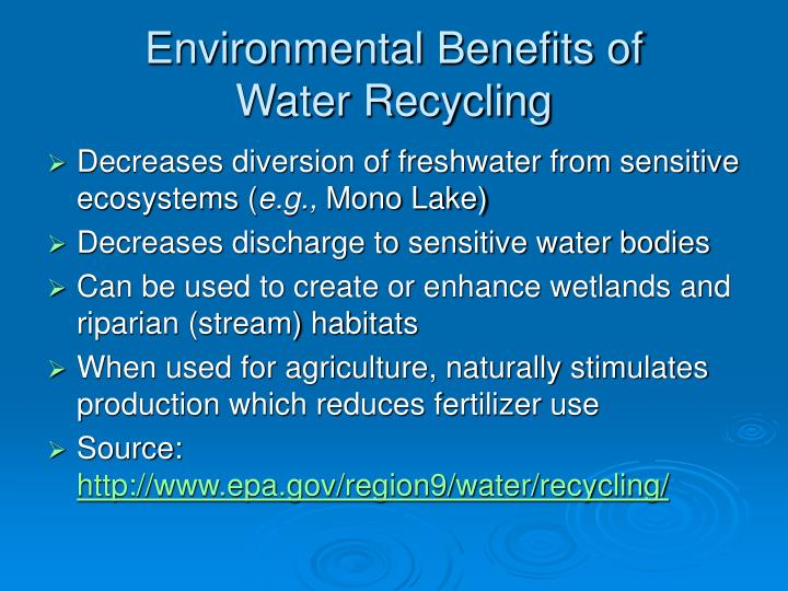 Environmental Benefits of