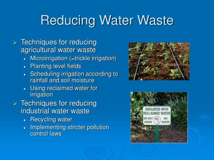 Reducing Water Waste