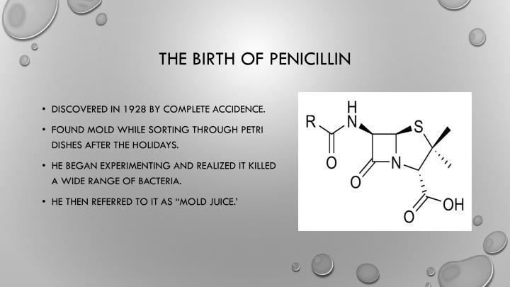 The birth of penicillin