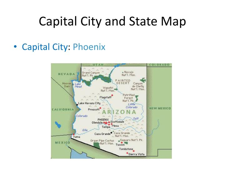 Capital City and State Map