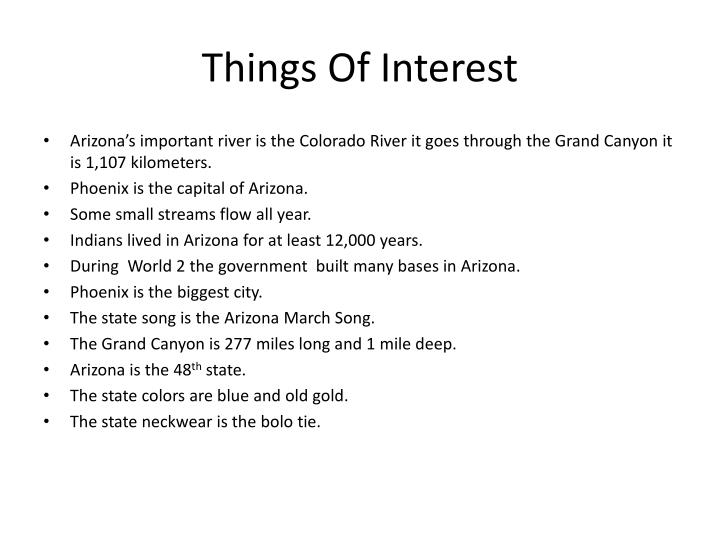 Things Of Interest