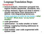 language translation steps