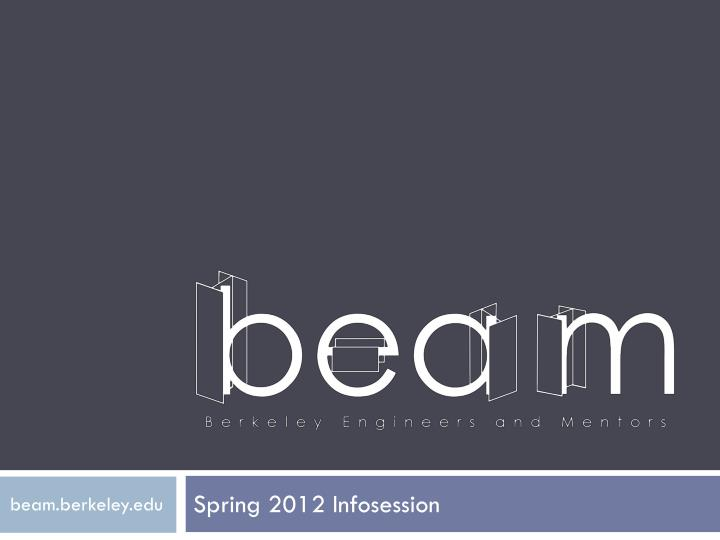 Spring 2012 infosession