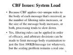 cbf issues system load