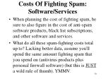 costs of fighting spam software services