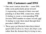 dsl customers and dns