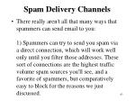 spam delivery channels