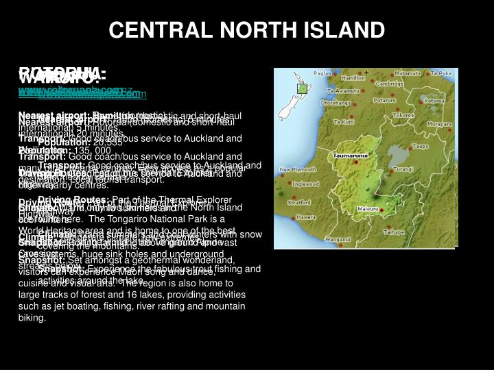 Central north island