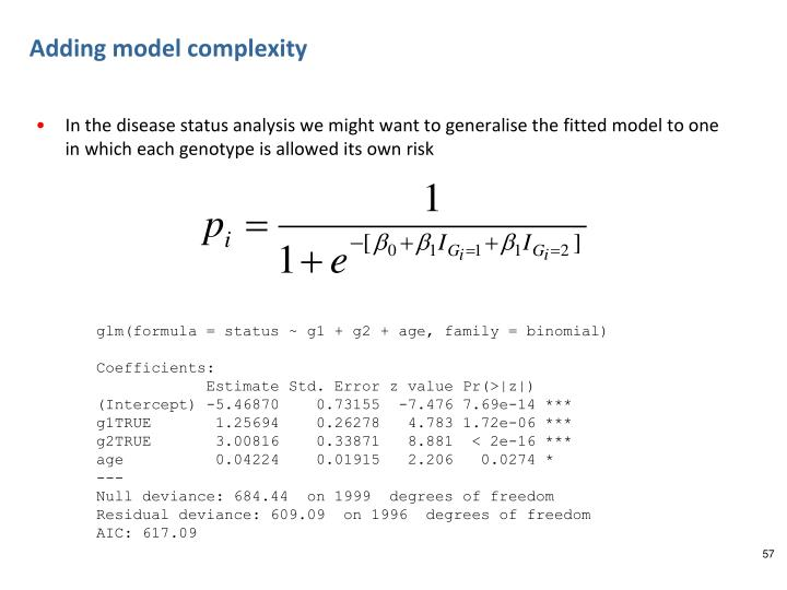 Adding model complexity