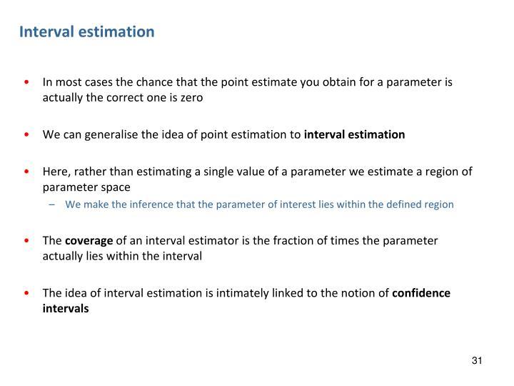 Interval estimation