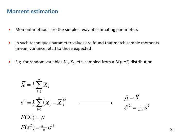 Moment estimation