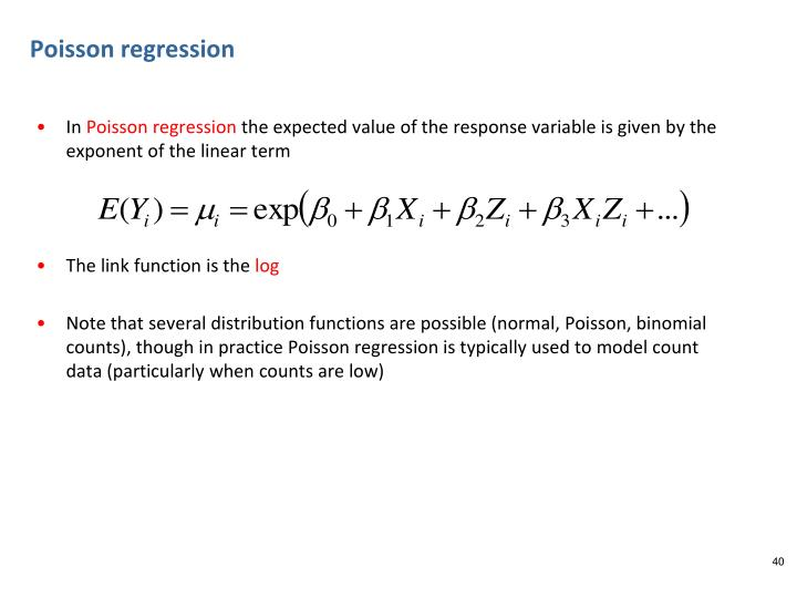 Poisson regression