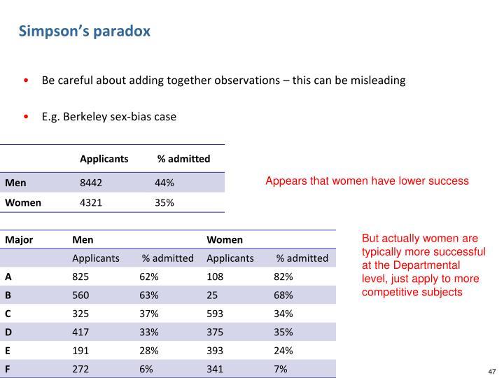 Simpson's paradox