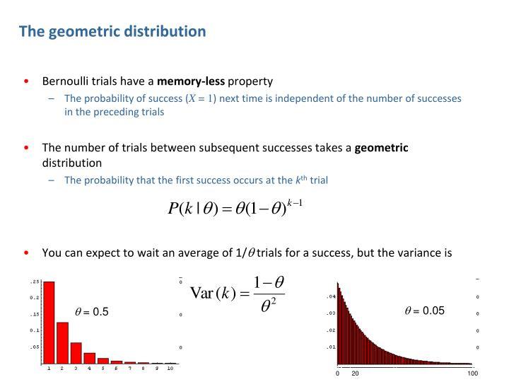 The geometric distribution