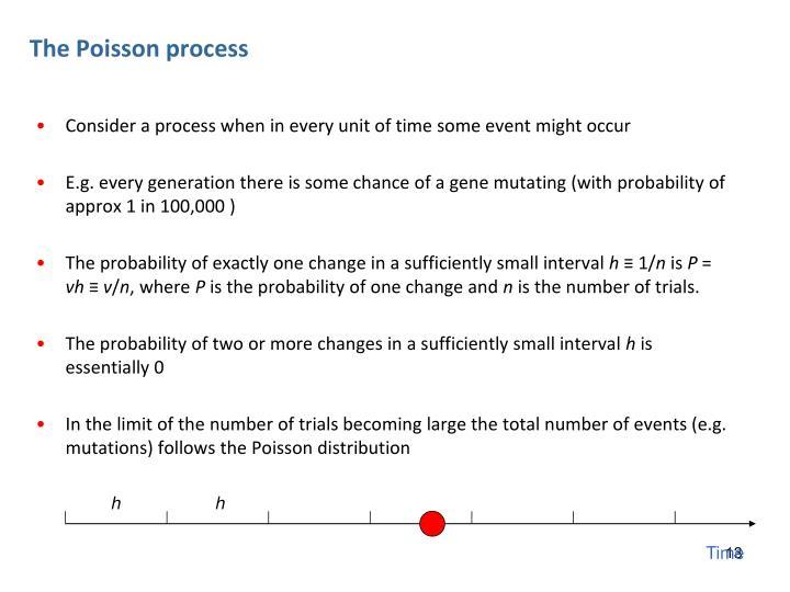 The Poisson process