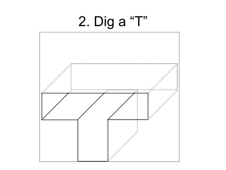 """2. Dig a """"T"""""""