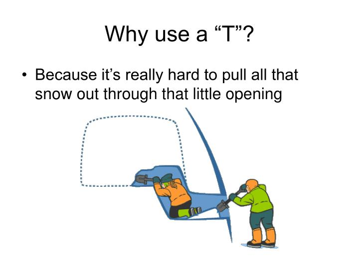 "Why use a ""T""?"