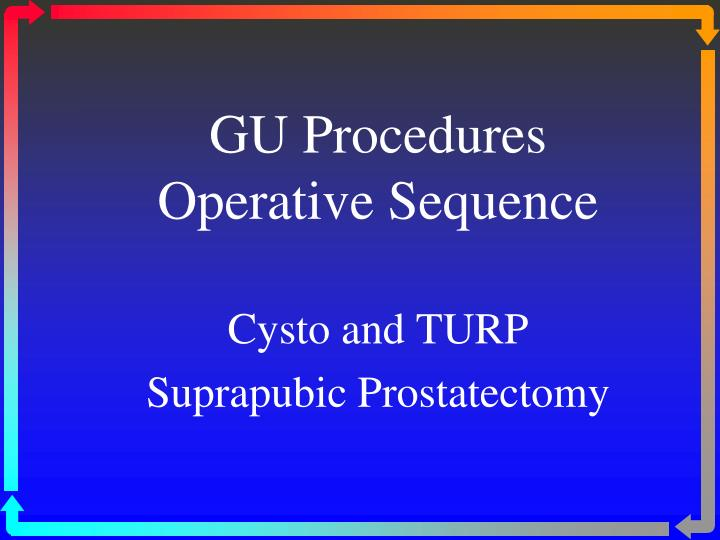 GU Procedures