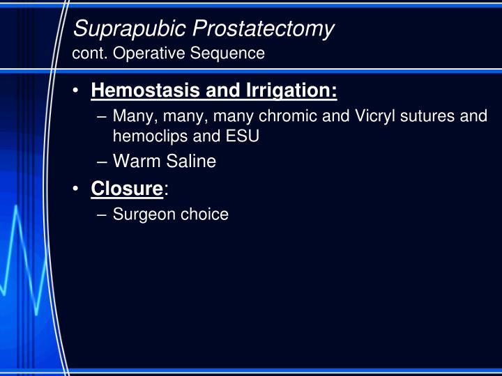 Suprapubic Prostatectomy