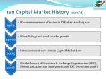 iran capital market history cont d