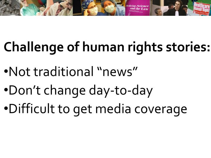 Challenge of human rights stories:
