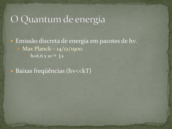 O Quantum de