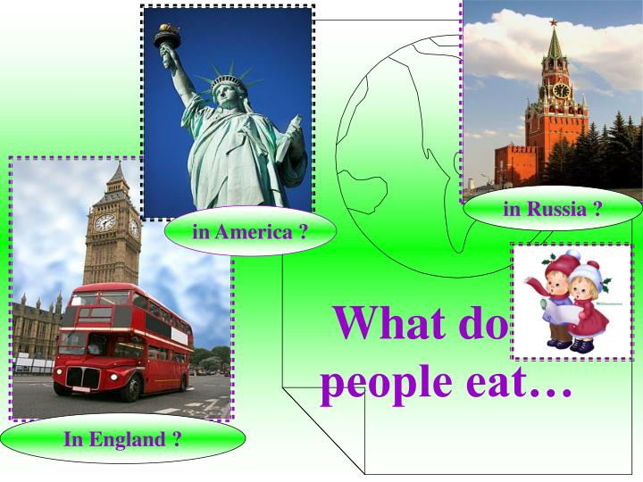 What do people eat…