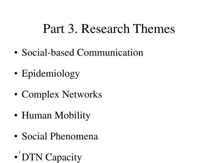 Part 3 research themes