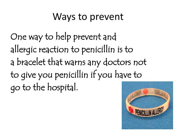Ways to prevent