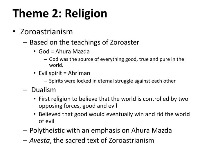 Theme 2: Religion
