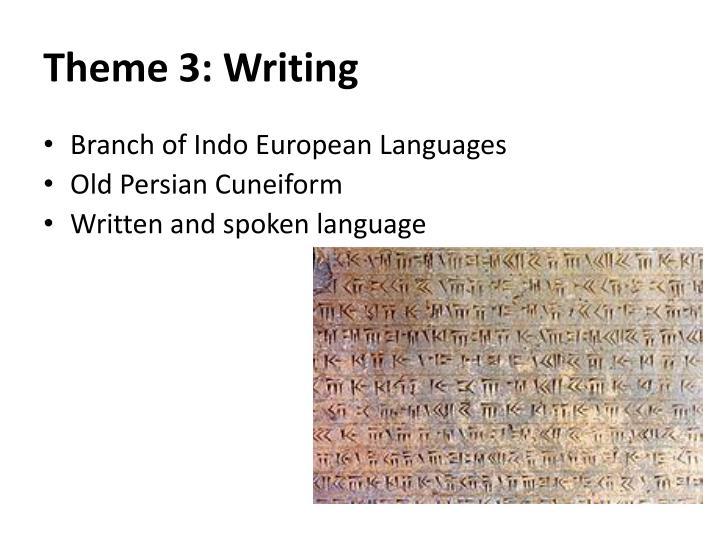 Theme 3: Writing