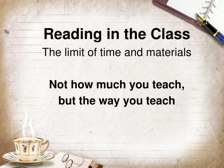 Reading in the Class