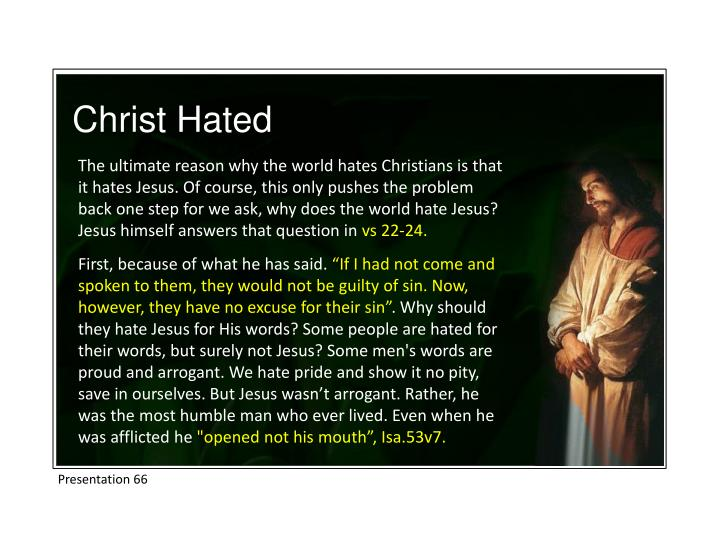 Christ Hated