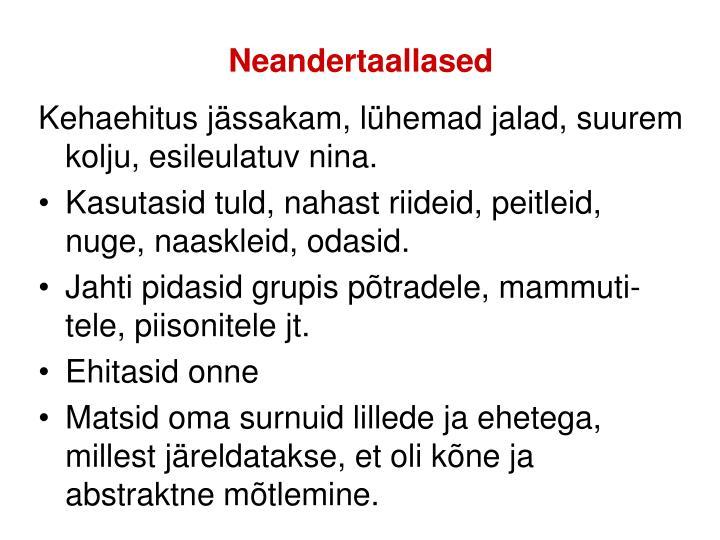Neandertaallased