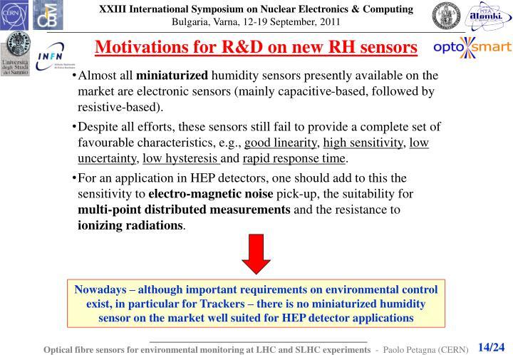 Motivations for R&D on new RH sensors