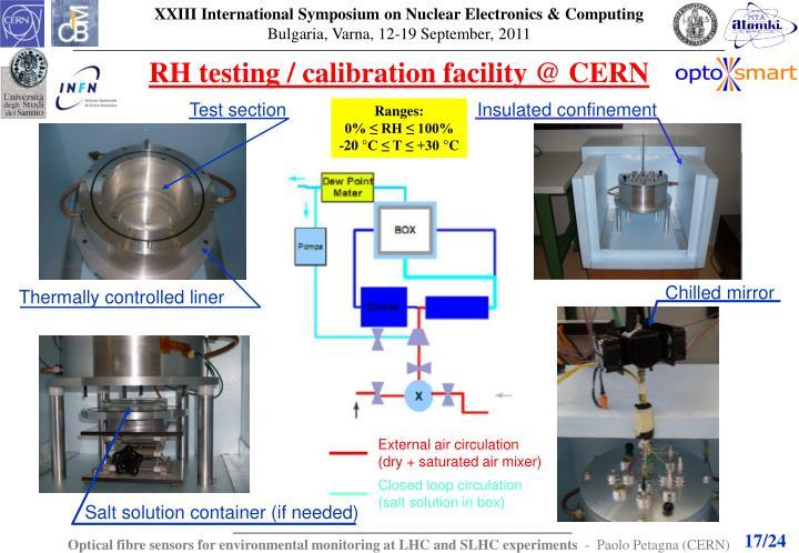 RH testing / calibration facility @ CERN