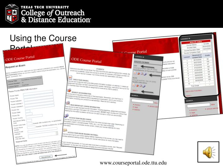 Using the Course Portal