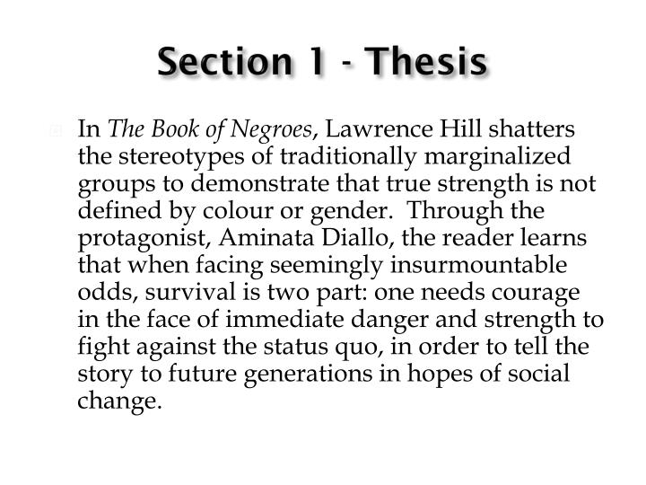 Section 1 - Thesis