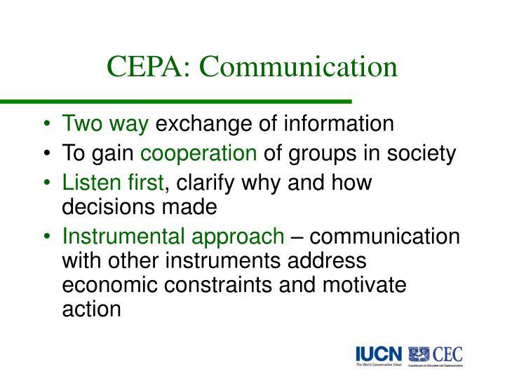 CEPA: Communication