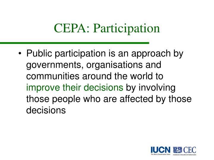 CEPA: Participation