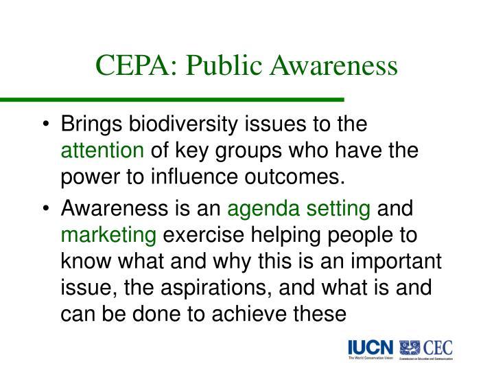 CEPA: Public Awareness